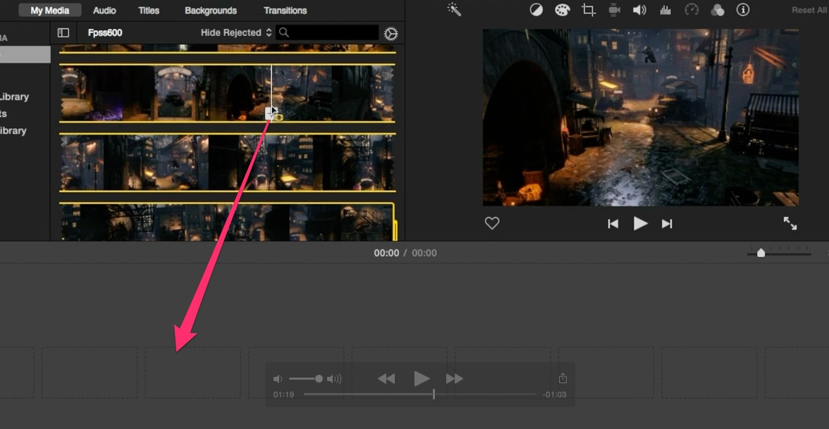 05-double-click-on-file-from-imovie-media-browser-and-drag-and-drop-clip-into-timeline