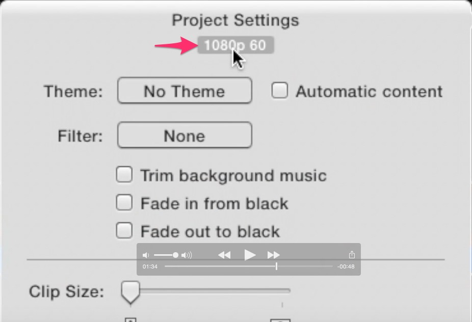 how to make a new project on imovie