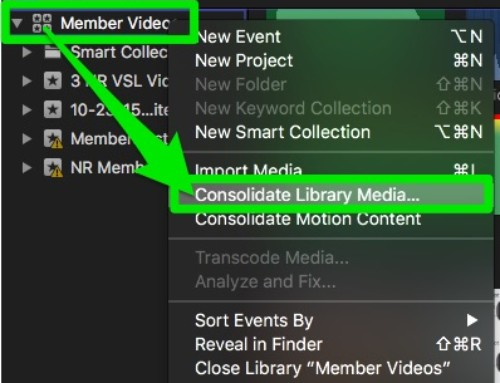 How to Consolidate Library Media in FCP X for Case Study Interviews
